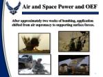 air and space power and oef2