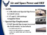 air and space power and oef3