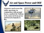 air and space power and oef6