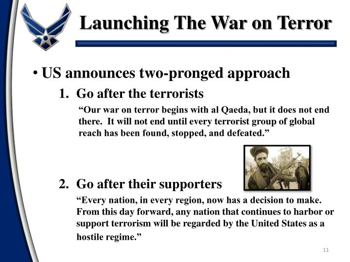 Launching The War on Terror