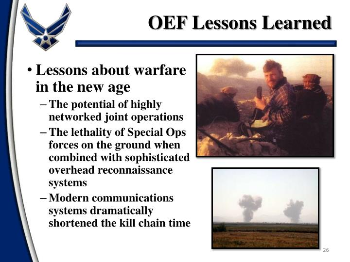 OEF Lessons Learned