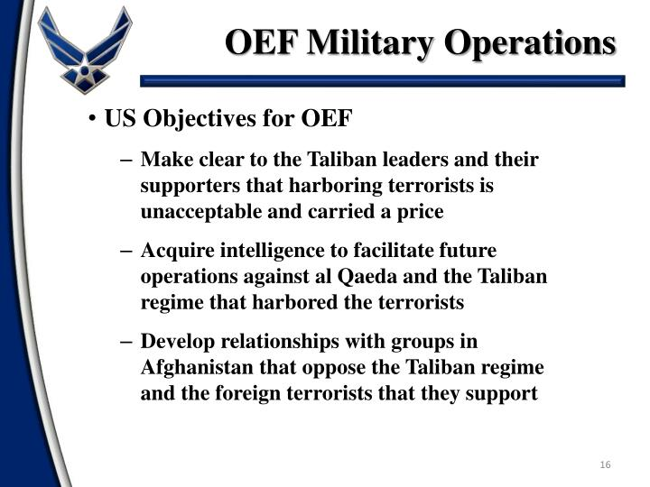 OEF Military Operations