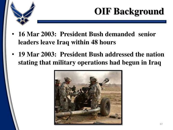 OIF Background