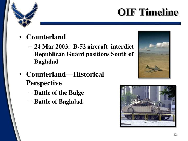 OIF Timeline