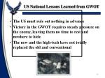 us national lessons learned from gwot1