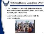 us national lessons learned from gwot2
