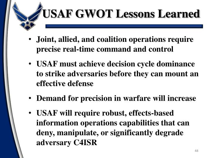 USAF GWOT Lessons Learned