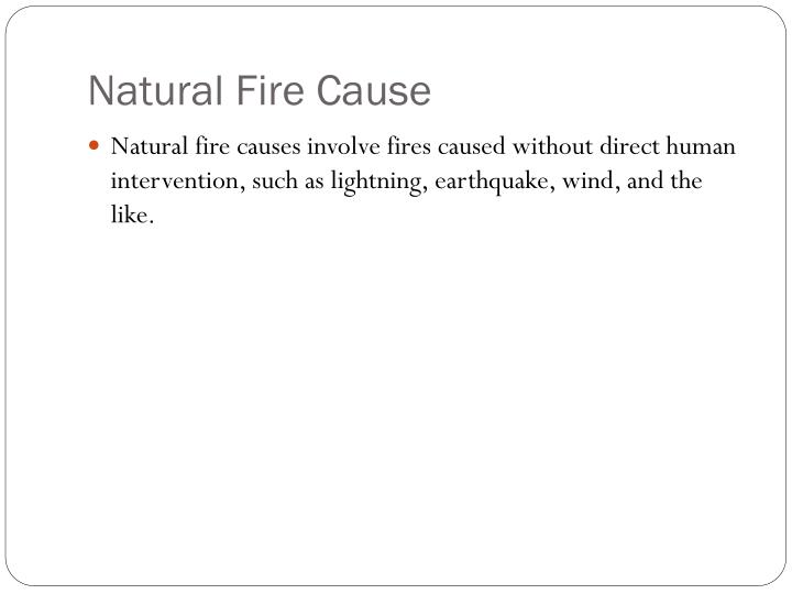 Natural Fire Cause