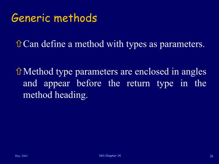 Generic methods