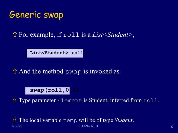 Generic swap