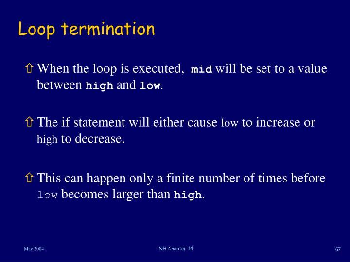 Loop termination