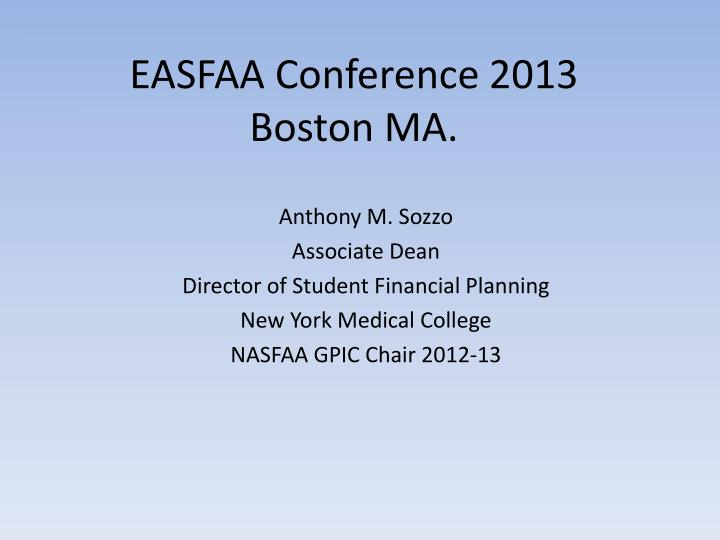 EASFAA Conference 2013