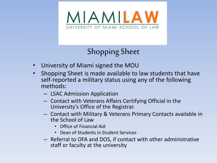 University of Miami signed the MOU