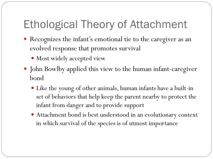 the ethological attachment theory This lesson will give an explanation of ethological theory - noting the history,   attachment theory: definition & criticism of bowlby & ainsworth's theories 5:55.