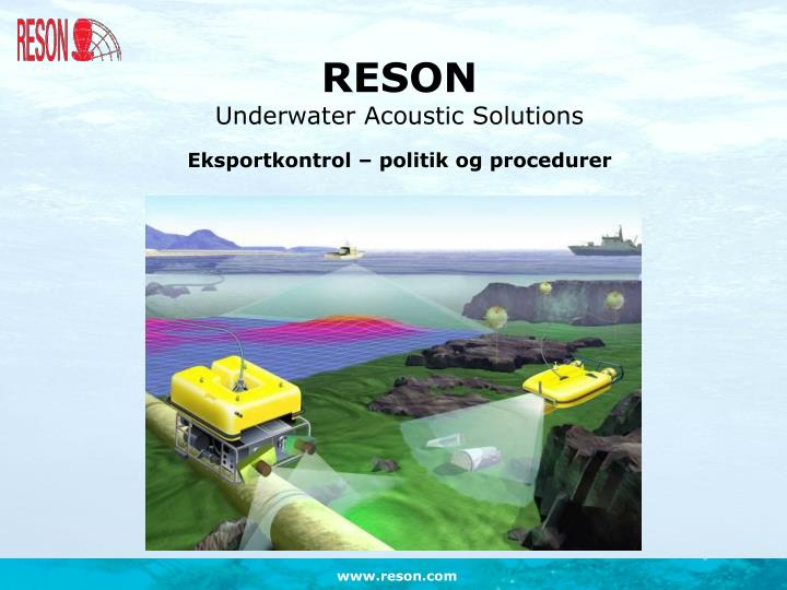 Reson underwater acoustic solutions