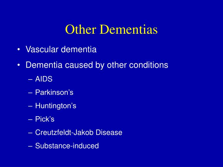 Other Dementias