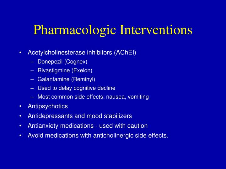 Pharmacologic Interventions
