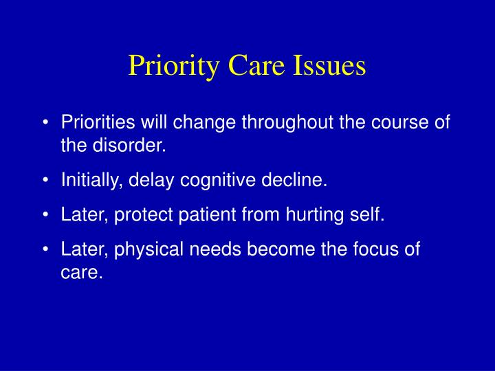 Priority Care Issues