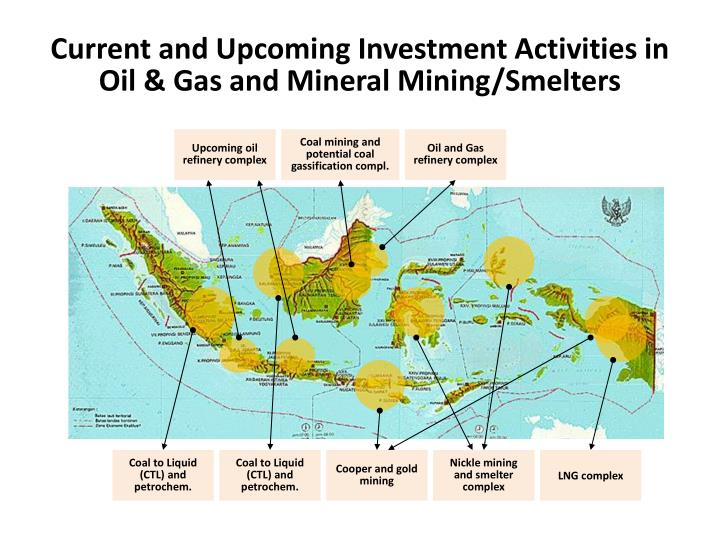 Current and Upcoming Investment Activities in Oil & Gas and Mineral Mining/Smelters