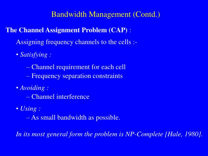 Bandwidth Management (Contd.)