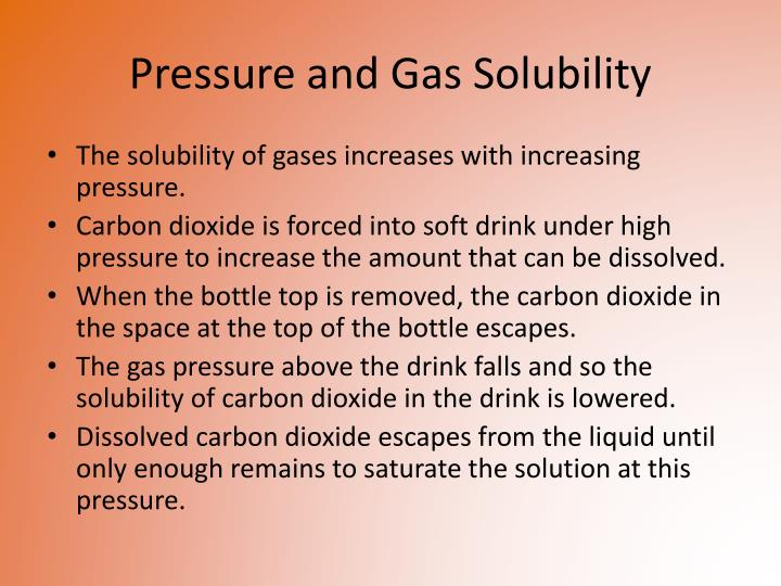 Pressure and Gas Solubility