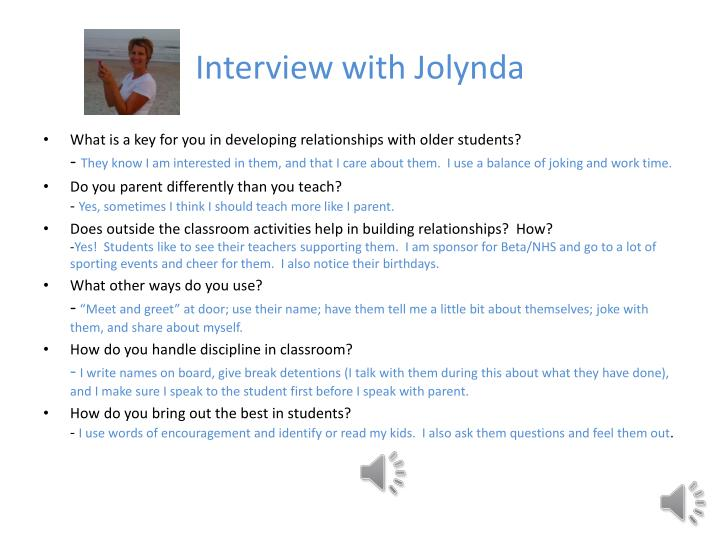 Interview with Jolynda
