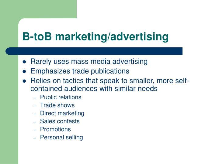 B-toB marketing/advertising