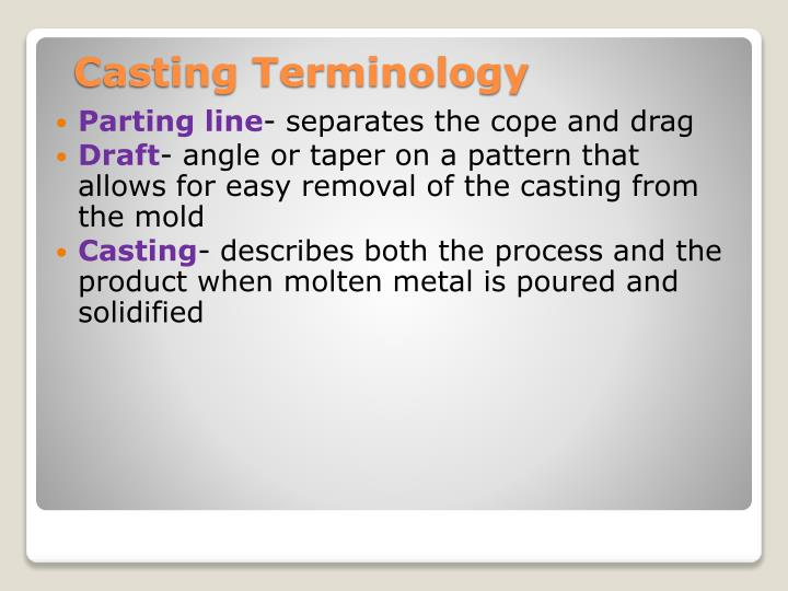 Casting Terminology
