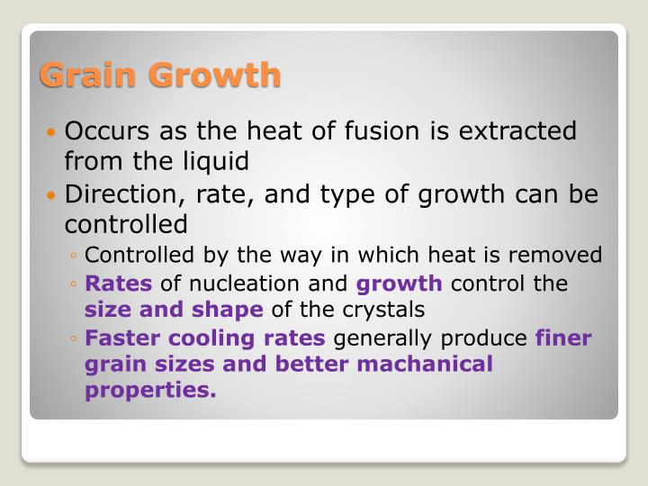 Occurs as the heat of fusion is extracted from the liquid
