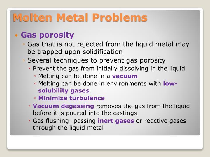 Gas porosity