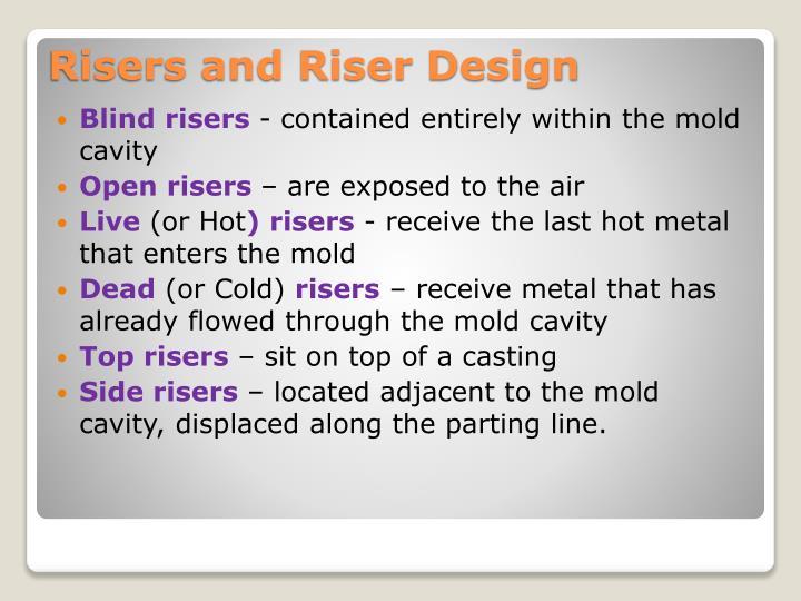 Blind risers