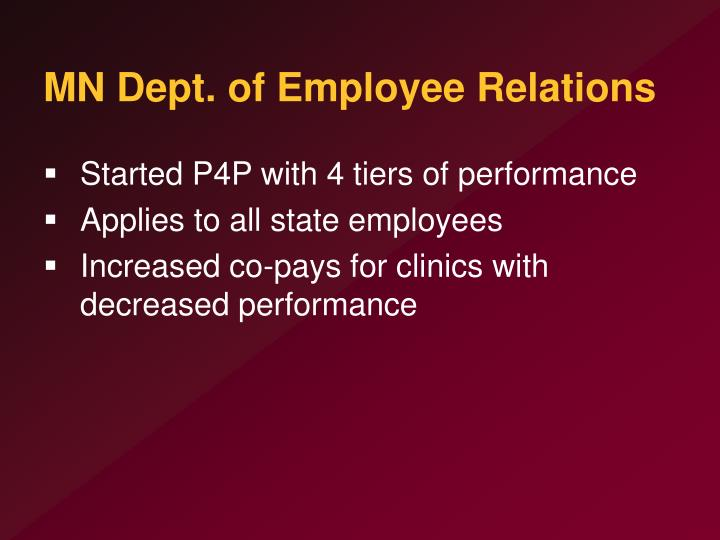 MN Dept. of Employee Relations
