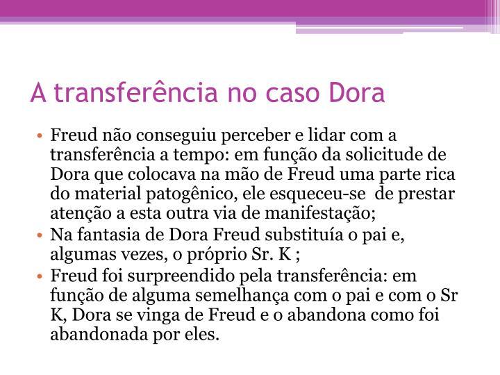 A transferência no caso Dora