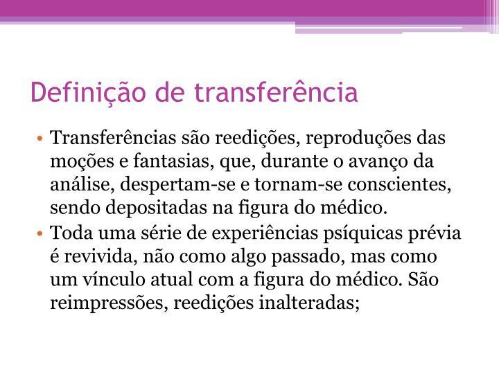 Definição de transferência