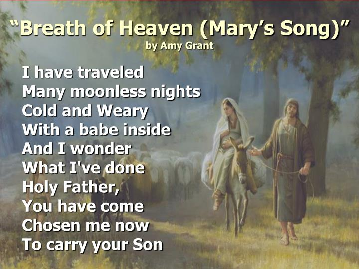 """Breath of Heaven (Mary's Song)"""