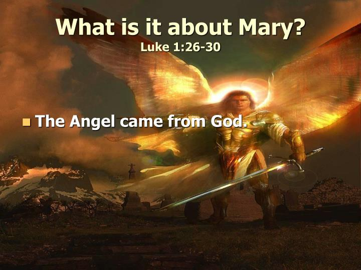 What is it about Mary?