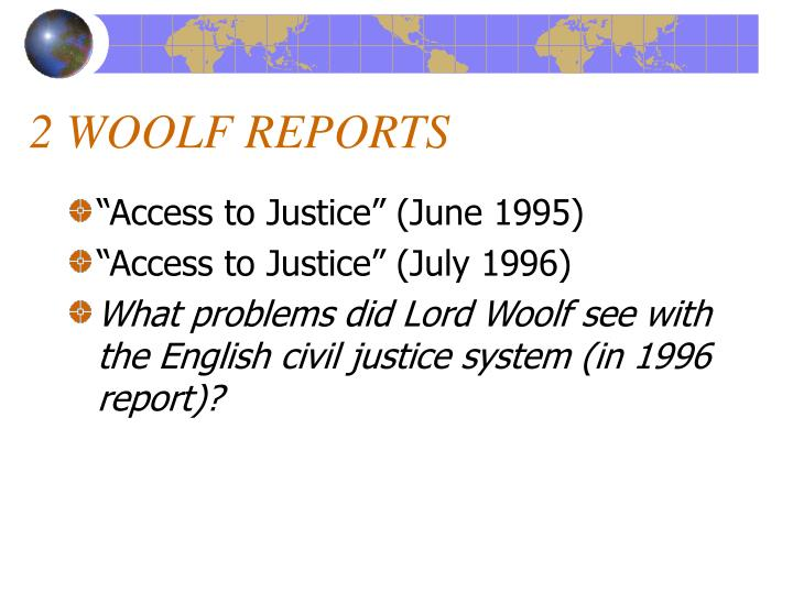2 WOOLF REPORTS