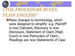 civil procedure rules plain english