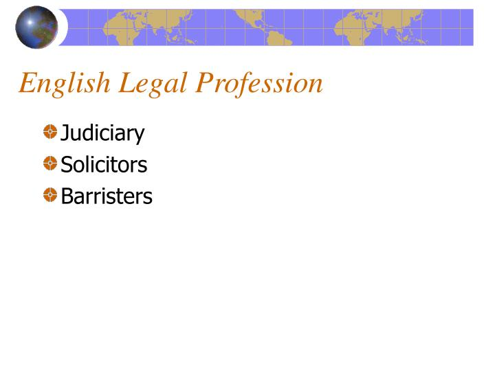 English Legal Profession