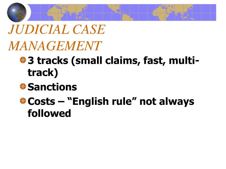JUDICIAL CASE MANAGEMENT