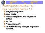 overriding objective civil procedure rules r 1 1
