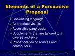 elements of a persuasive proposal1