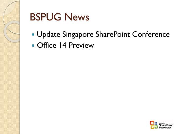 BSPUG News