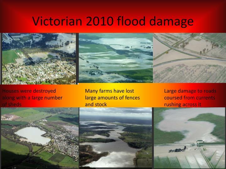 Victorian 2010 flood damage