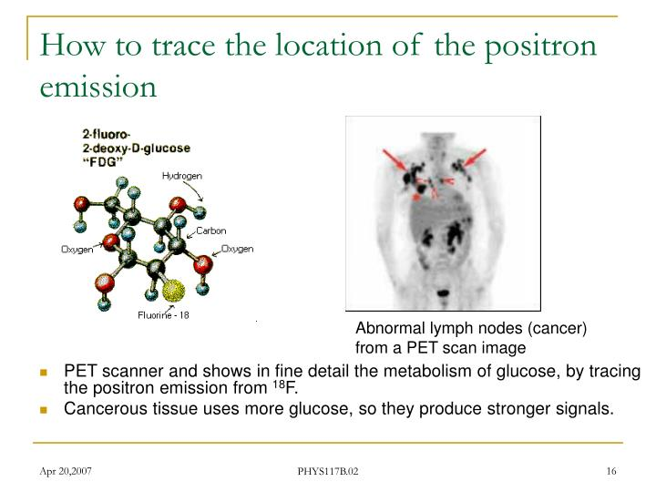 How to trace the location of the positron emission
