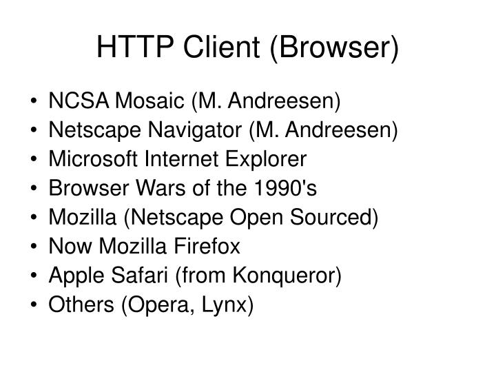 HTTP Client (Browser)