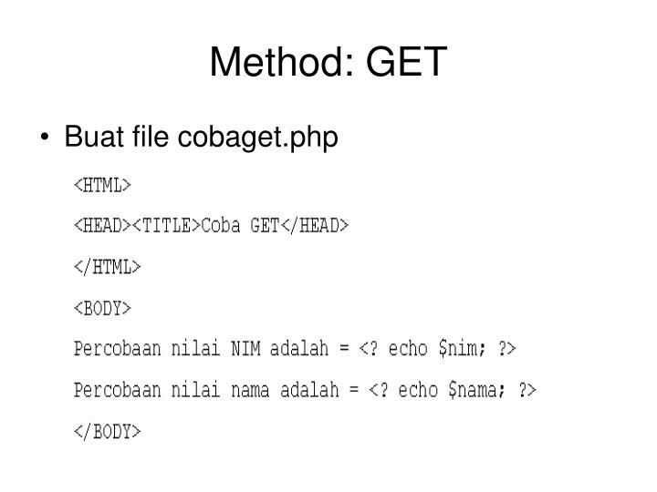 Method: GET