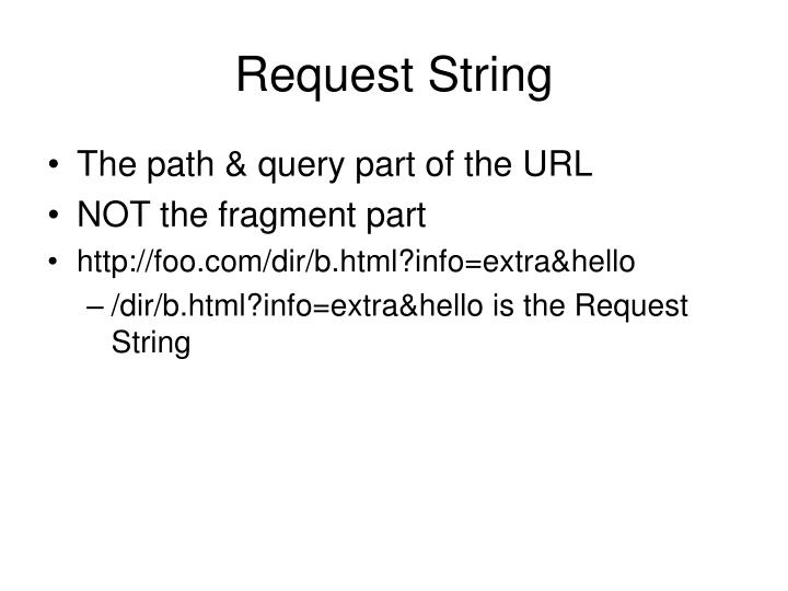 Request String