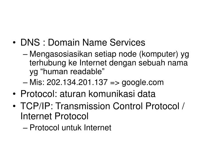 DNS : Domain Name Services