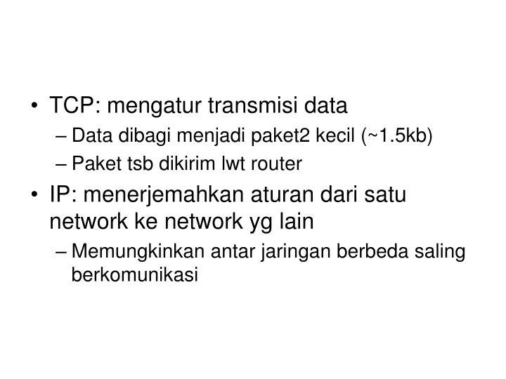 TCP: mengatur transmisi data